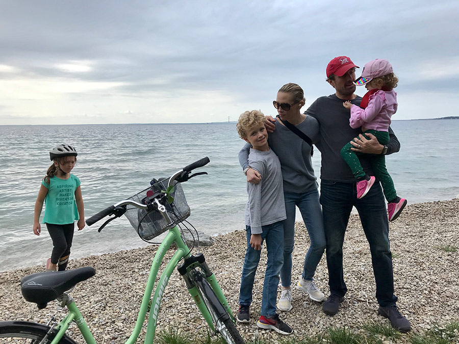 Biking Mackinac Island with Family